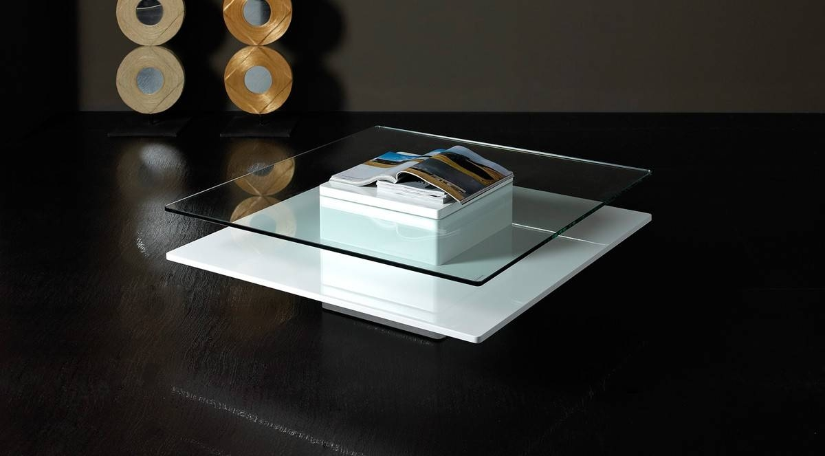 Emulsion - Modern White Glass Coffee Table throughout White And Glass Coffee Tables (Image 12 of 30)
