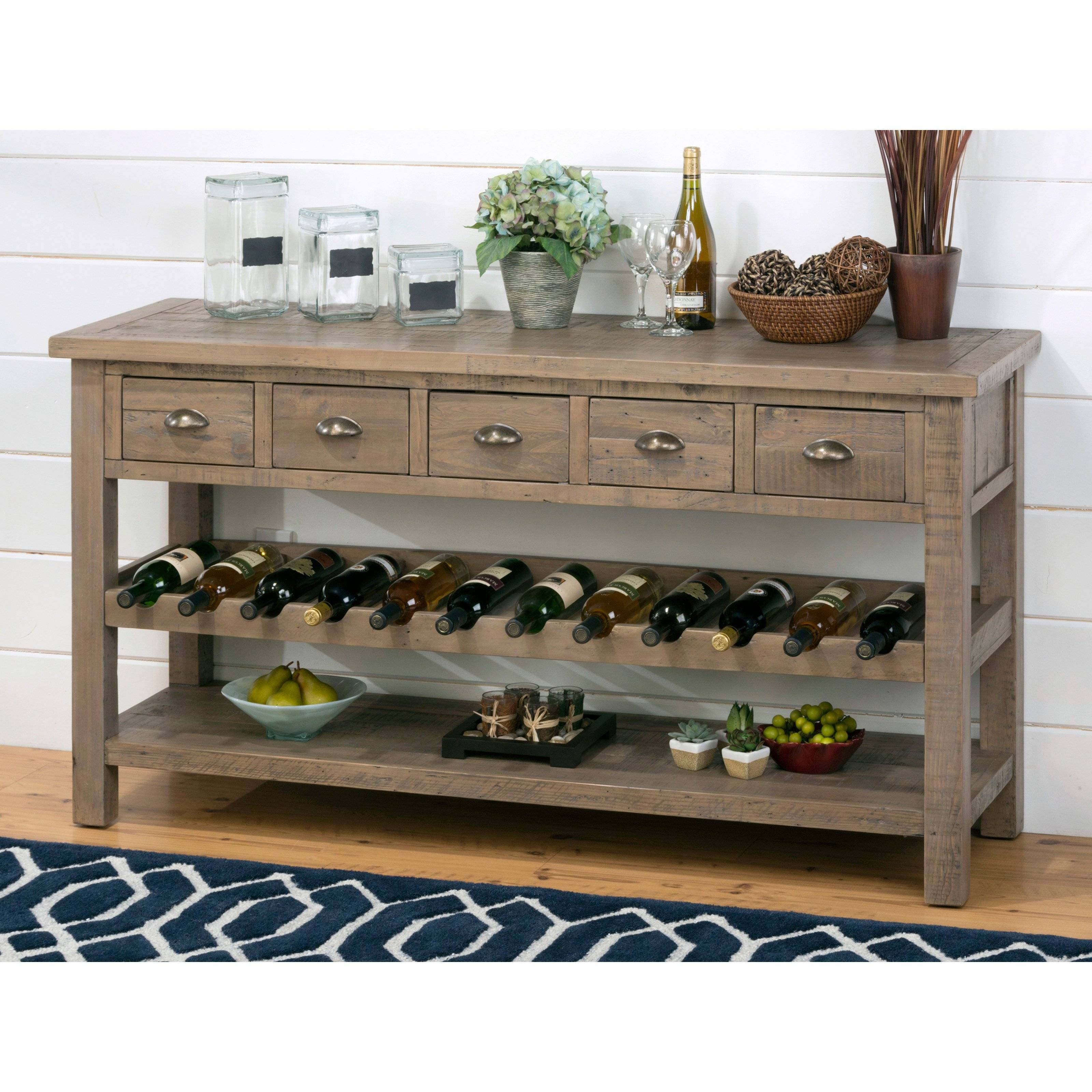 Enchanting Buffet With Wine Rack Decor Ideas. Home Furniture regarding White Sideboards With Wine Rack (Image 8 of 30)