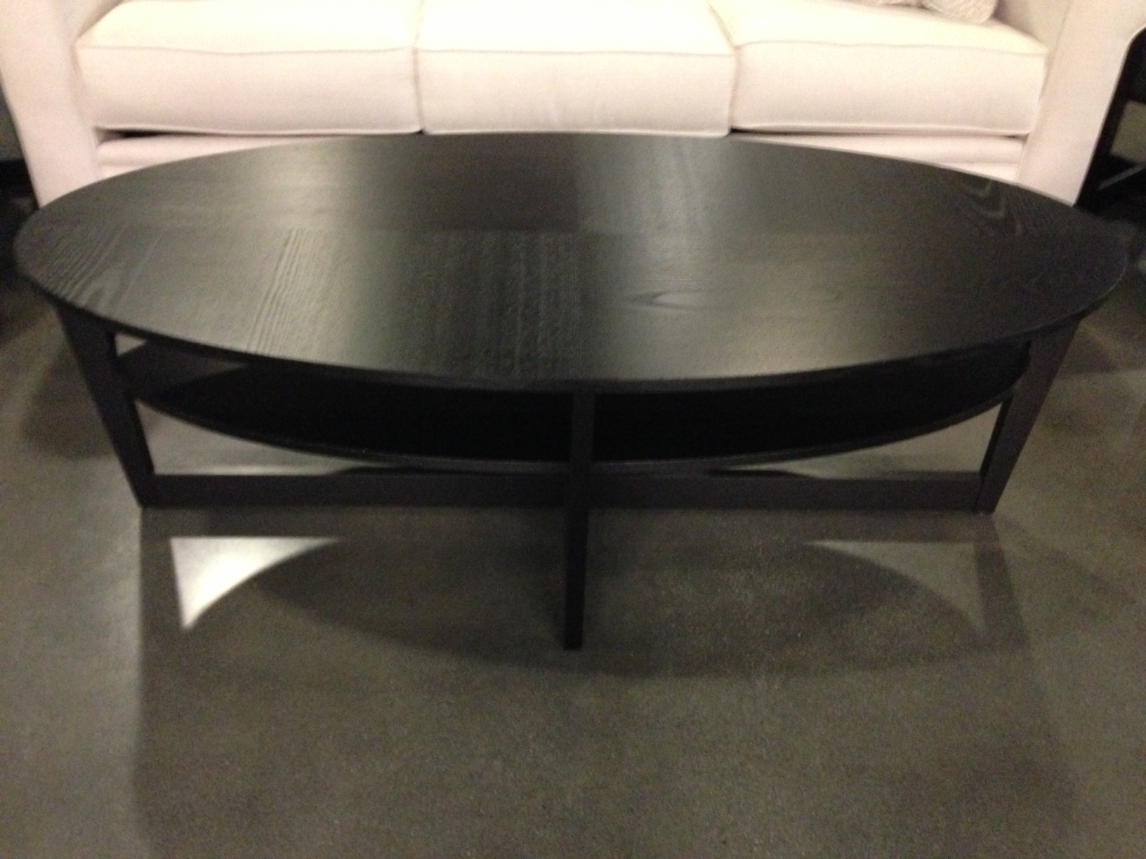 Encore Oval Shaped Coffee Table Contemporary Focus For Glass for Oval Shaped Coffee Tables (Image 12 of 30)