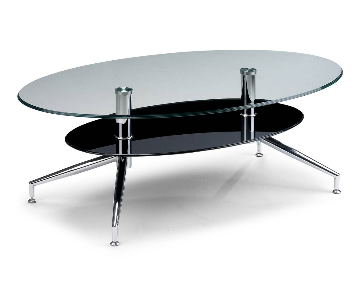 Encore Oval Shaped Coffee Table Contemporary Focus For Glass for Oval Shaped Glass Coffee Tables (Image 13 of 30)
