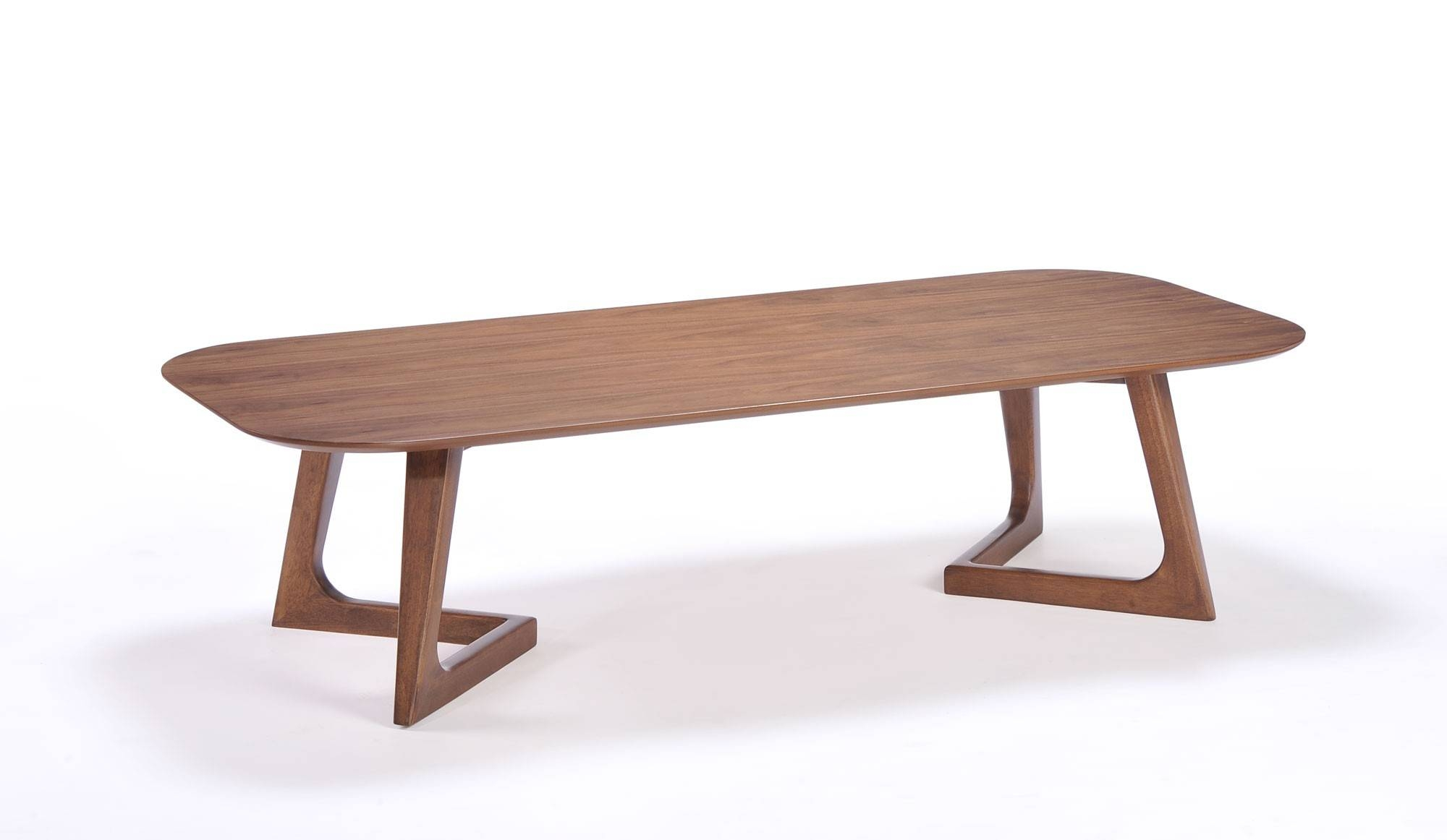 Encore Oval Shaped Coffee Table Contemporary Focus For Glass With Regard To Oval Walnut Coffee Tables (View 9 of 30)