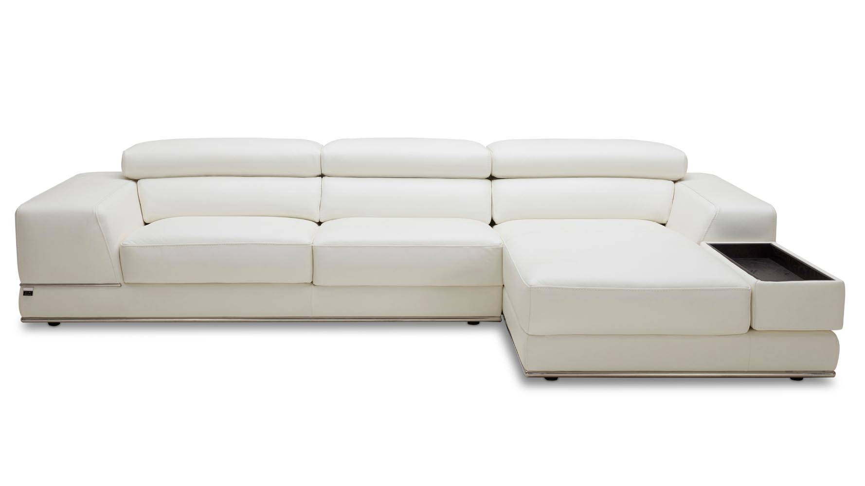 Encore White Leather Sofa | Zuri Furniture within White Leather Sofas (Image 7 of 30)