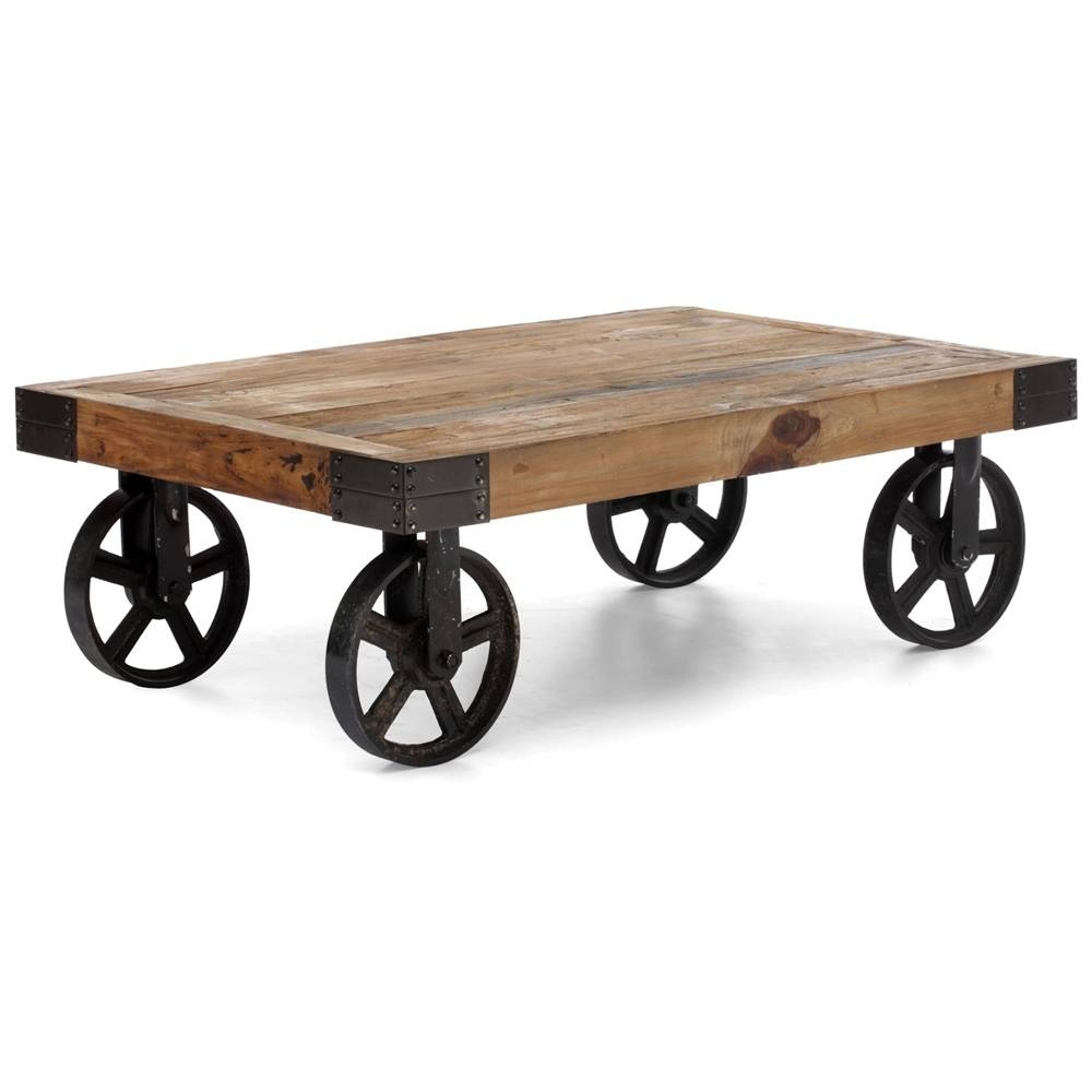 Endearing Antique Wheels For Coffee Table Also Create Home with regard to Wheels Coffee Tables (Image 12 of 30)