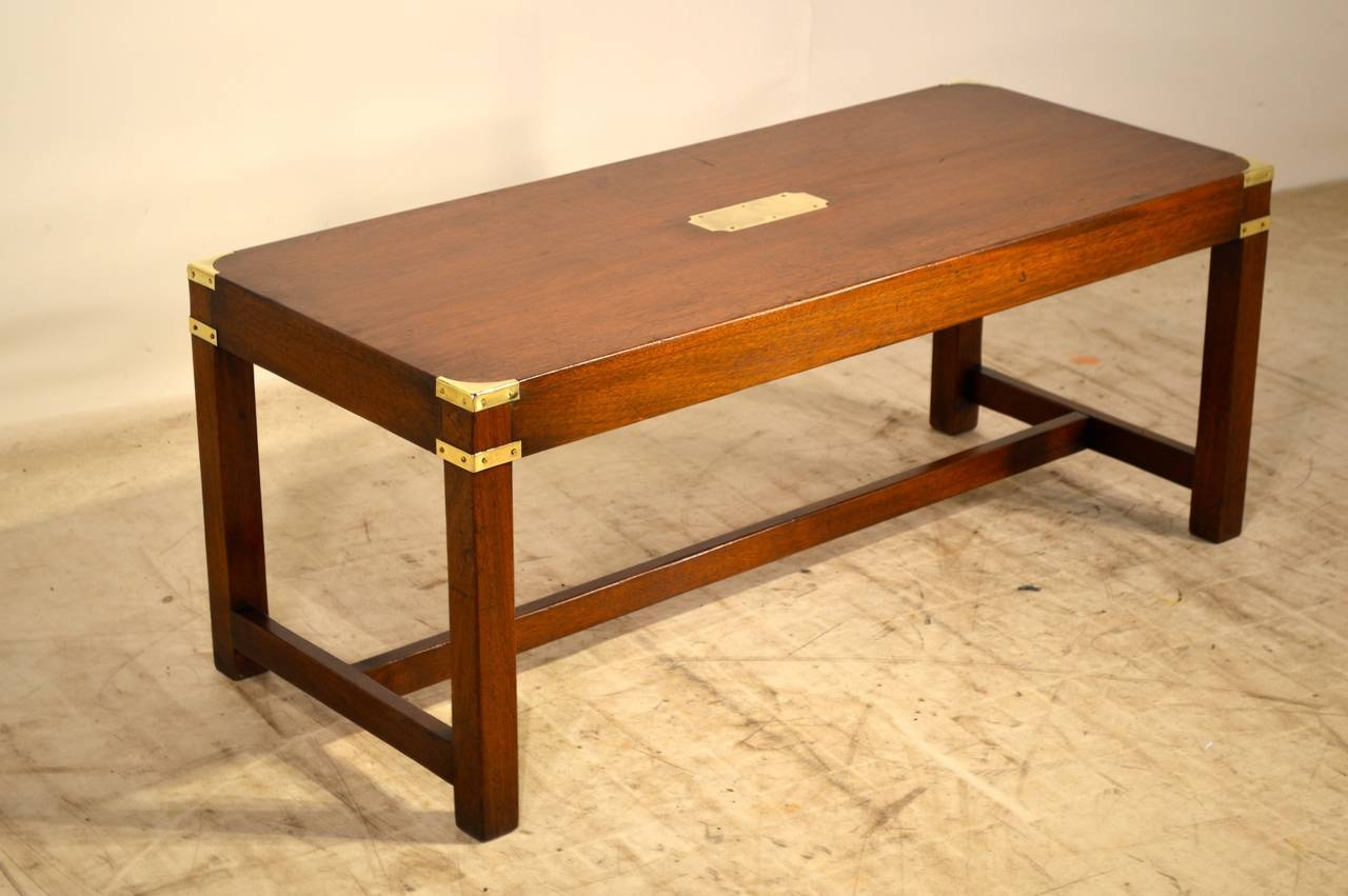 English Campaign Coffee Table, Circa 1940 At 1Stdibs pertaining to Campaign Coffee Tables (Image 10 of 30)