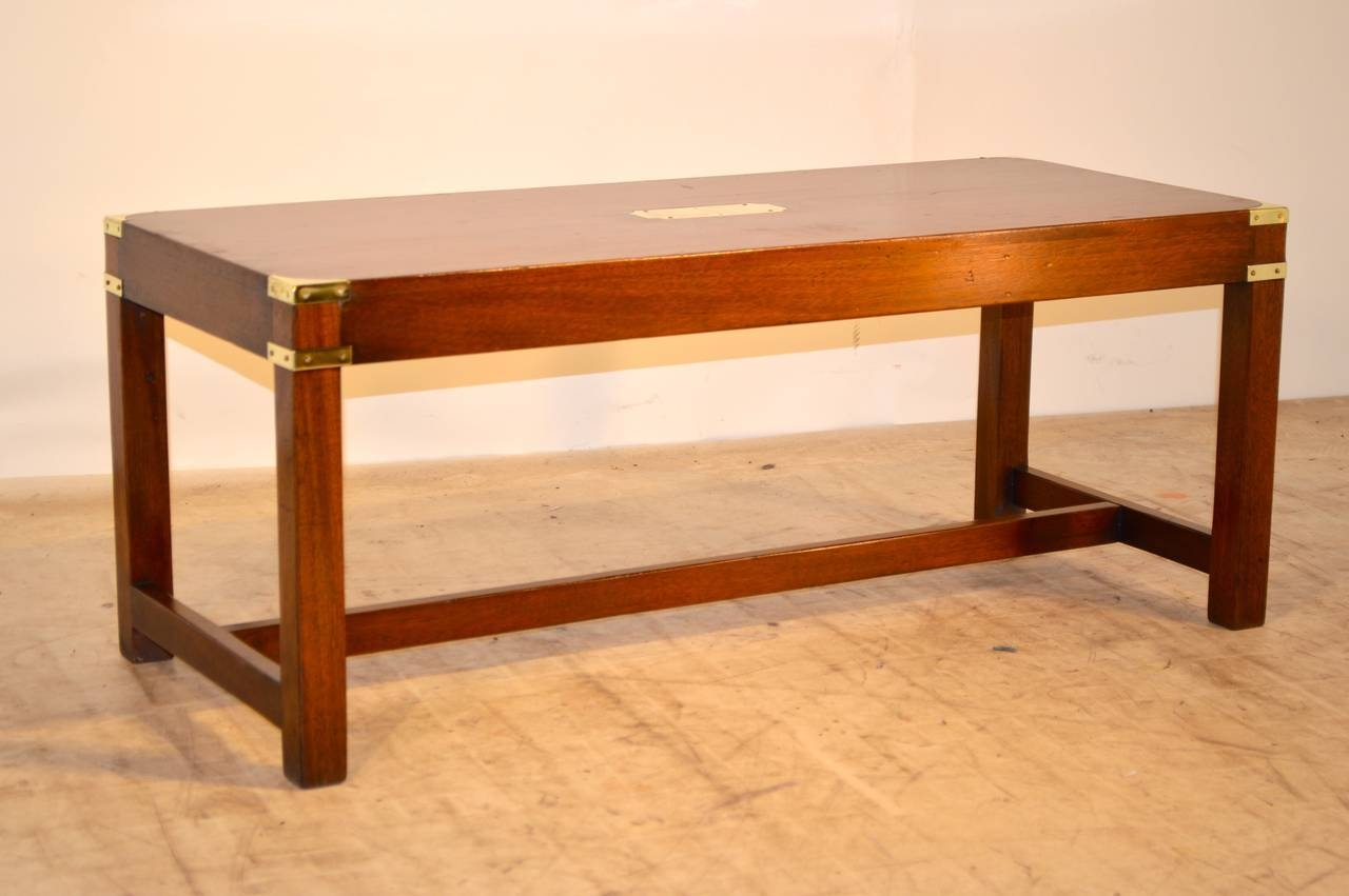 English Campaign Coffee Table, Circa 1940 At 1Stdibs with regard to Campaign Coffee Tables (Image 11 of 30)