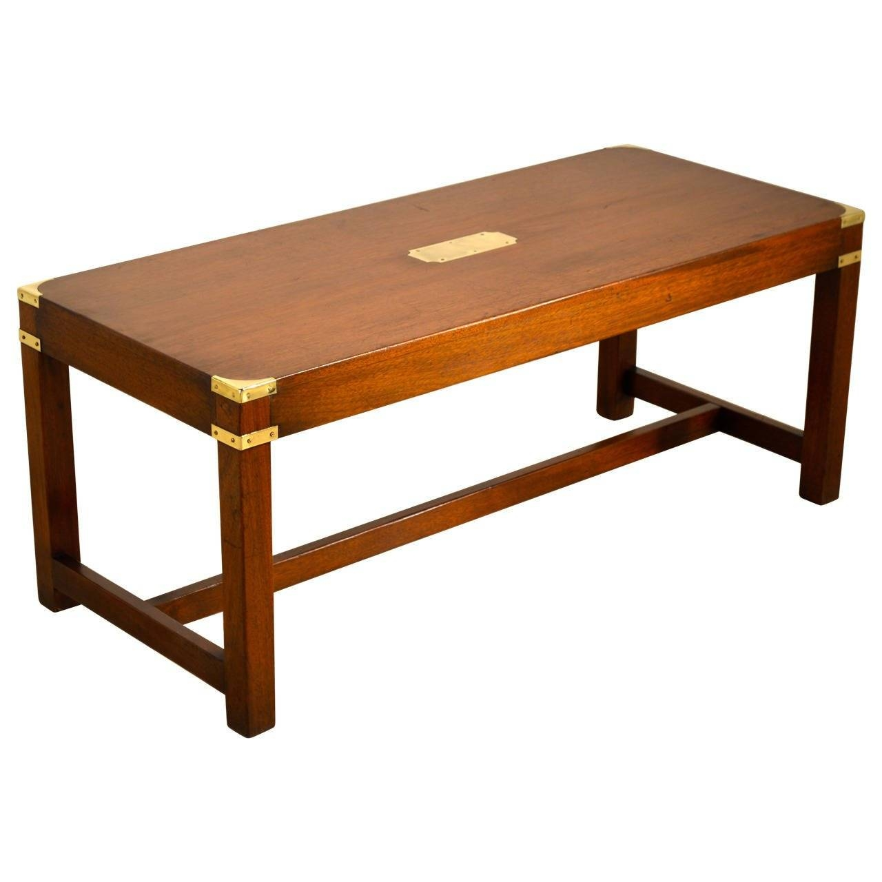 English Campaign Coffee Table, Circa 1940 At 1Stdibs within Campaign Coffee Tables (Image 12 of 30)