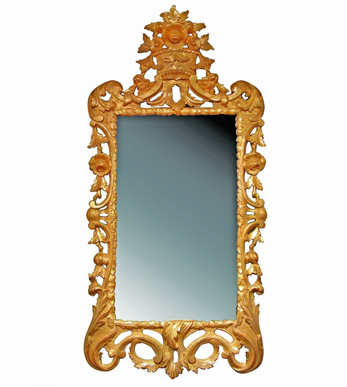English Georgian | A56 George Iii Rococo Mirror | Hand Carved Gilt inside Rococo Mirrors (Image 11 of 25)