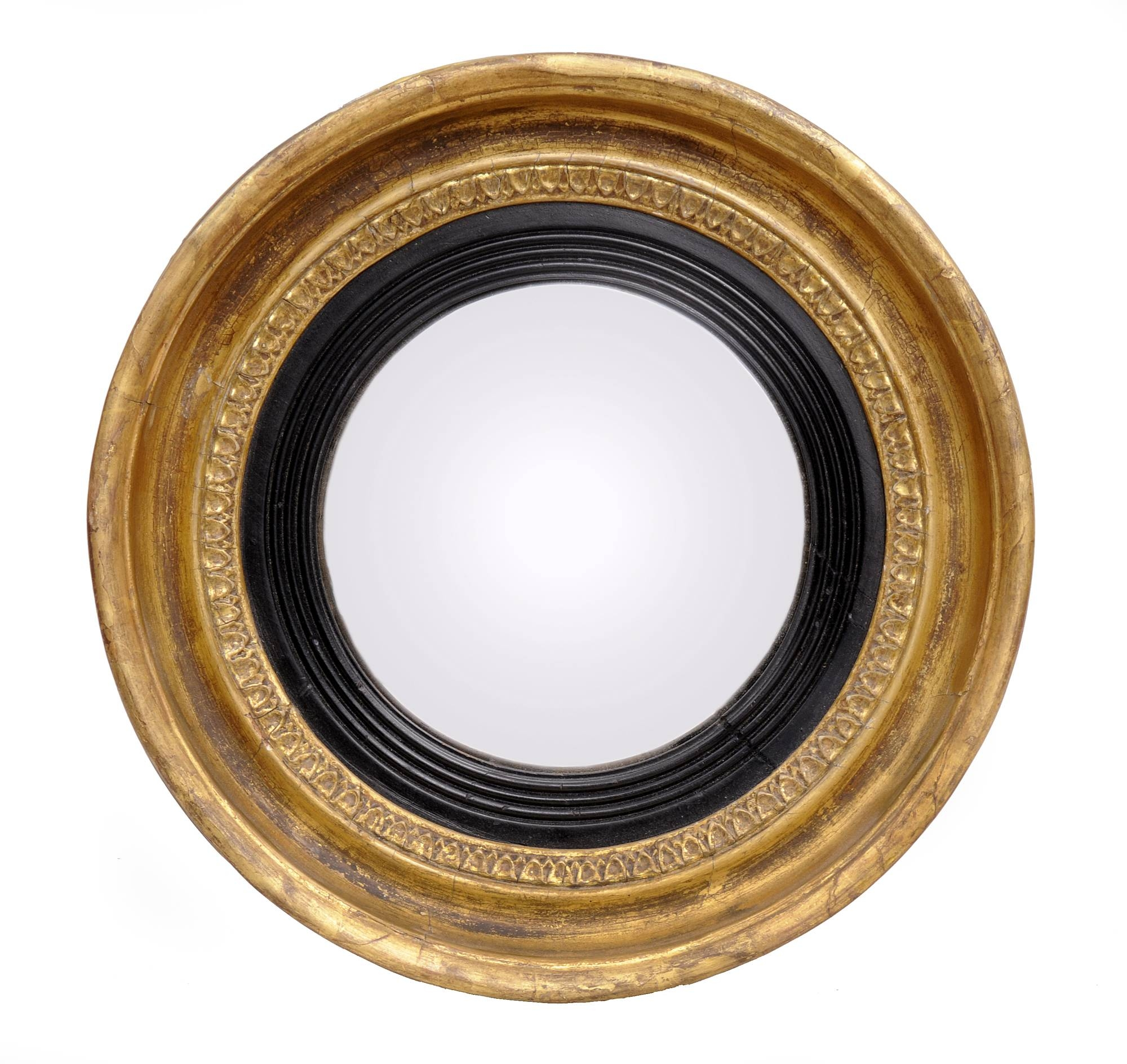 English Regency Convex Mirror | Small Antique Mirror in Small Antique Mirrors (Image 15 of 25)