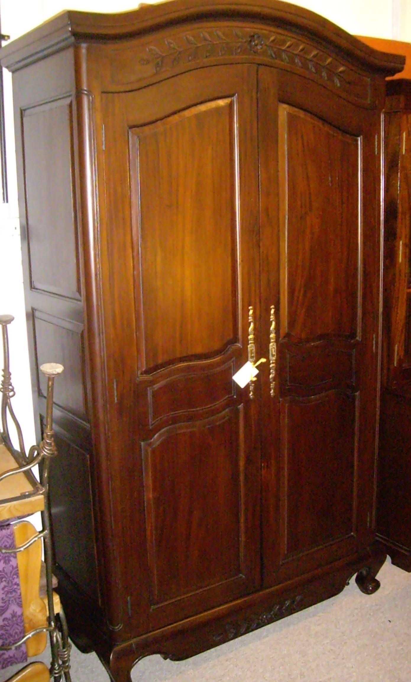 English & Scottish Antique Furniture & Decorative Antiques within Dark Wood Wardrobes (Image 16 of 30)