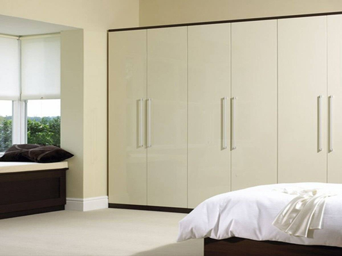 Enigma Design » Gloss Cream & Walnut pertaining to Cream Gloss Wardrobes (Image 5 of 15)
