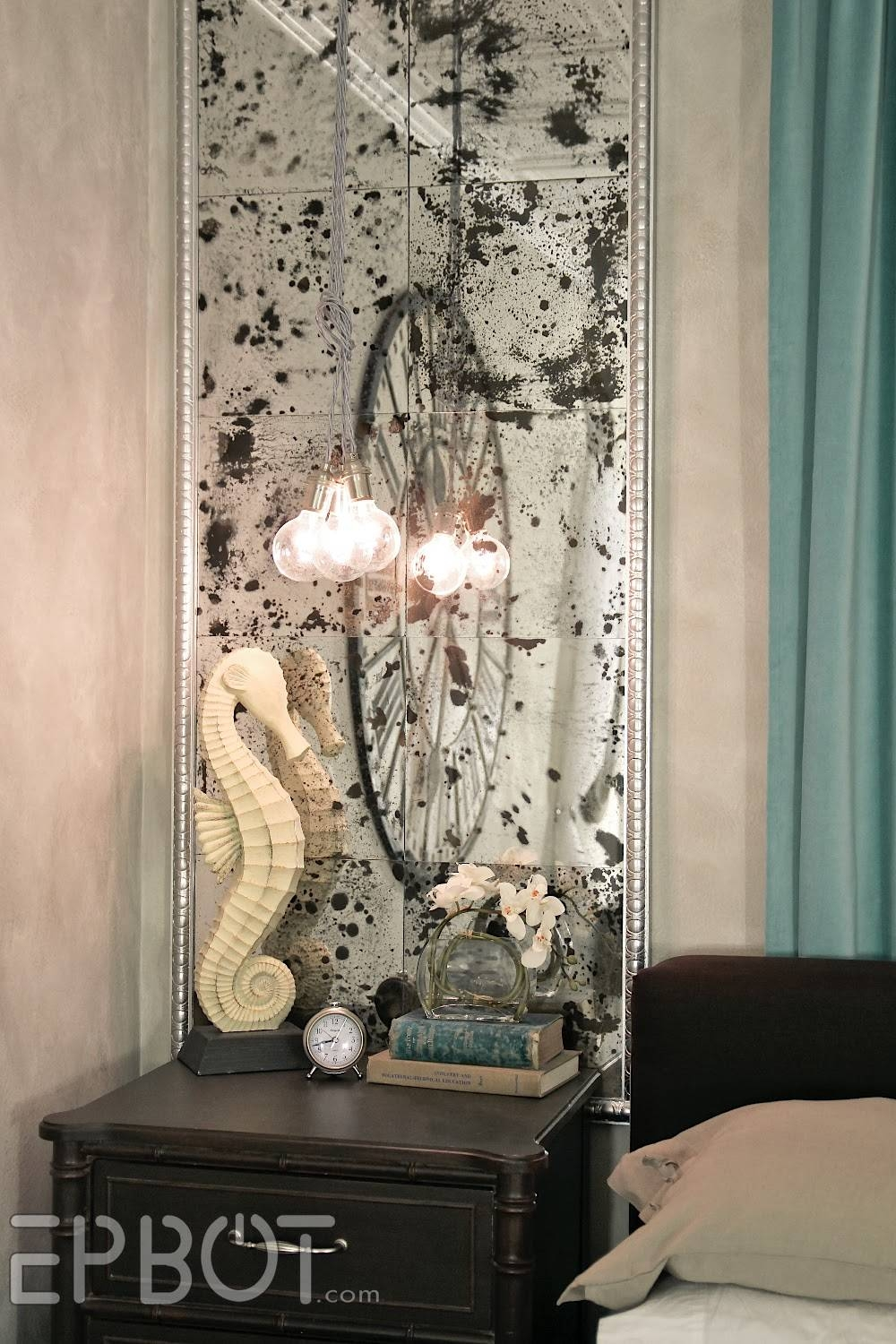 "Epbot: Diy Antiqued Mirror Wall Panels (Or, ""fun With Muriatic Acid!"") pertaining to Antiqued Mirrors (Image 16 of 25)"