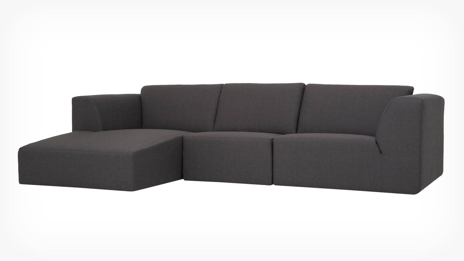 Eq3 | Morten 3-Piece Sectional Sofa With Chaise - Fabric intended for Green Sectional Sofa With Chaise (Image 6 of 30)