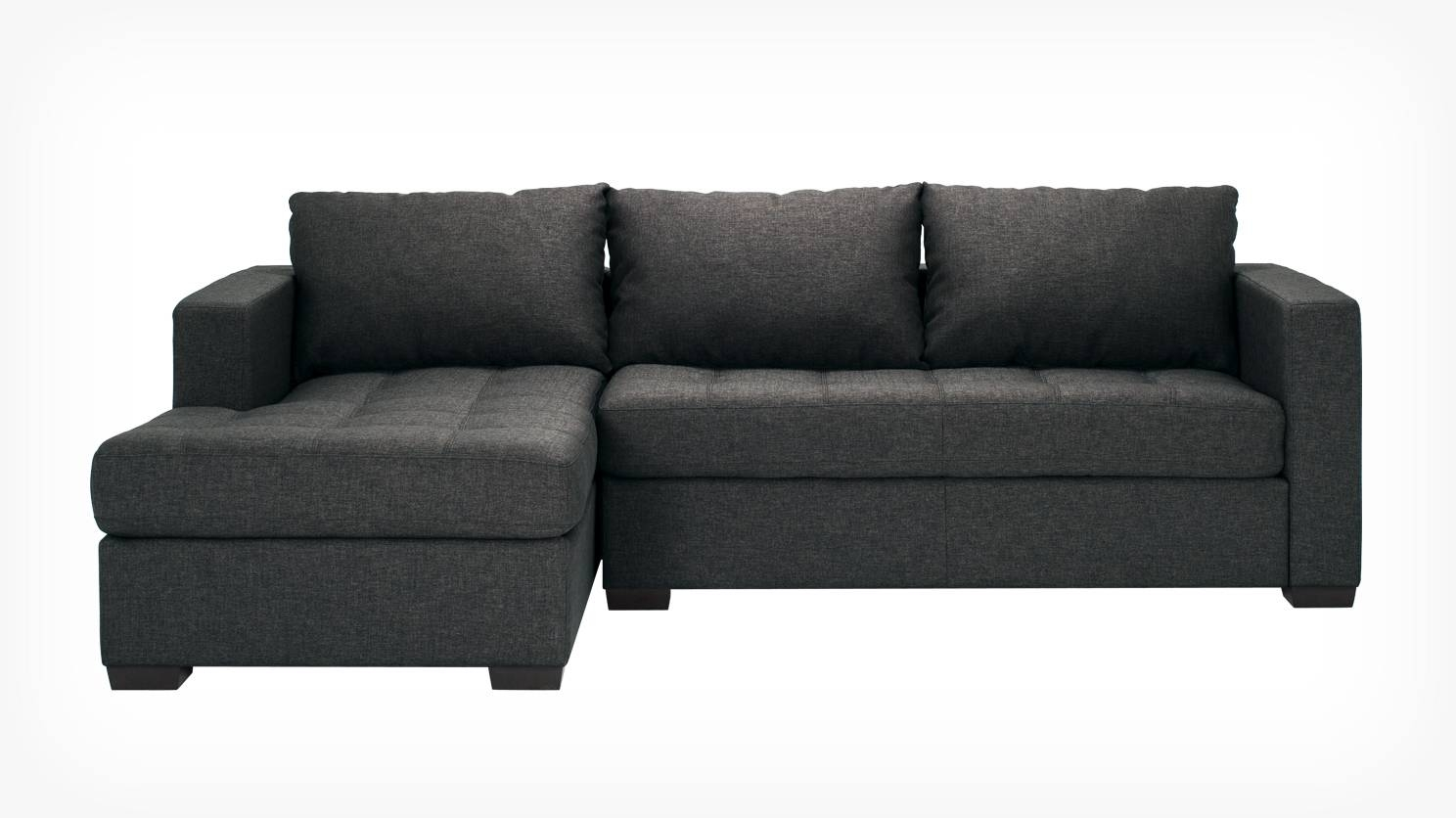 Eq3 | Porter 2 Piece Sectional Sofa With Chaise – Fabric Regarding Sectional Sofa With 2 Chaises (View 19 of 30)