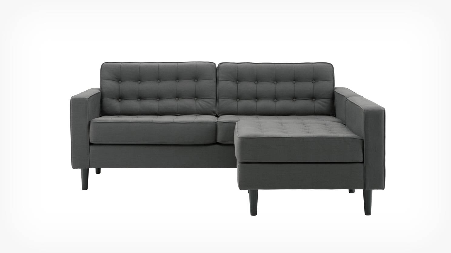 Eq3 | Reverie Apartment 2 Piece Sectional Sofa With Chaise – Fabric In Apartment Sofa Sectional (Image 15 of 30)