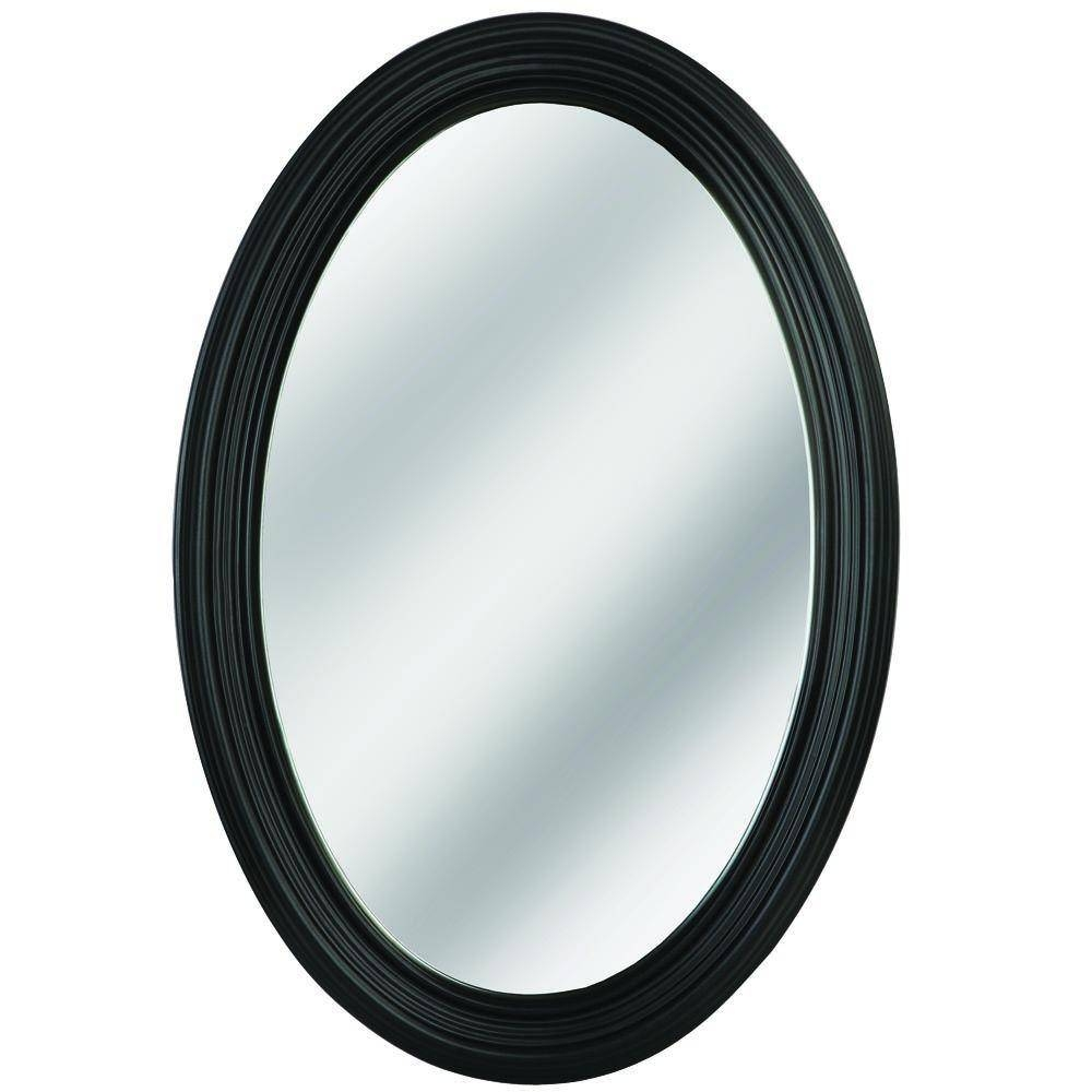 Erias Home Designs Napoli 31 In. L X 21 In. W Framed Oval Mirror throughout Oval Black Mirrors (Image 8 of 25)