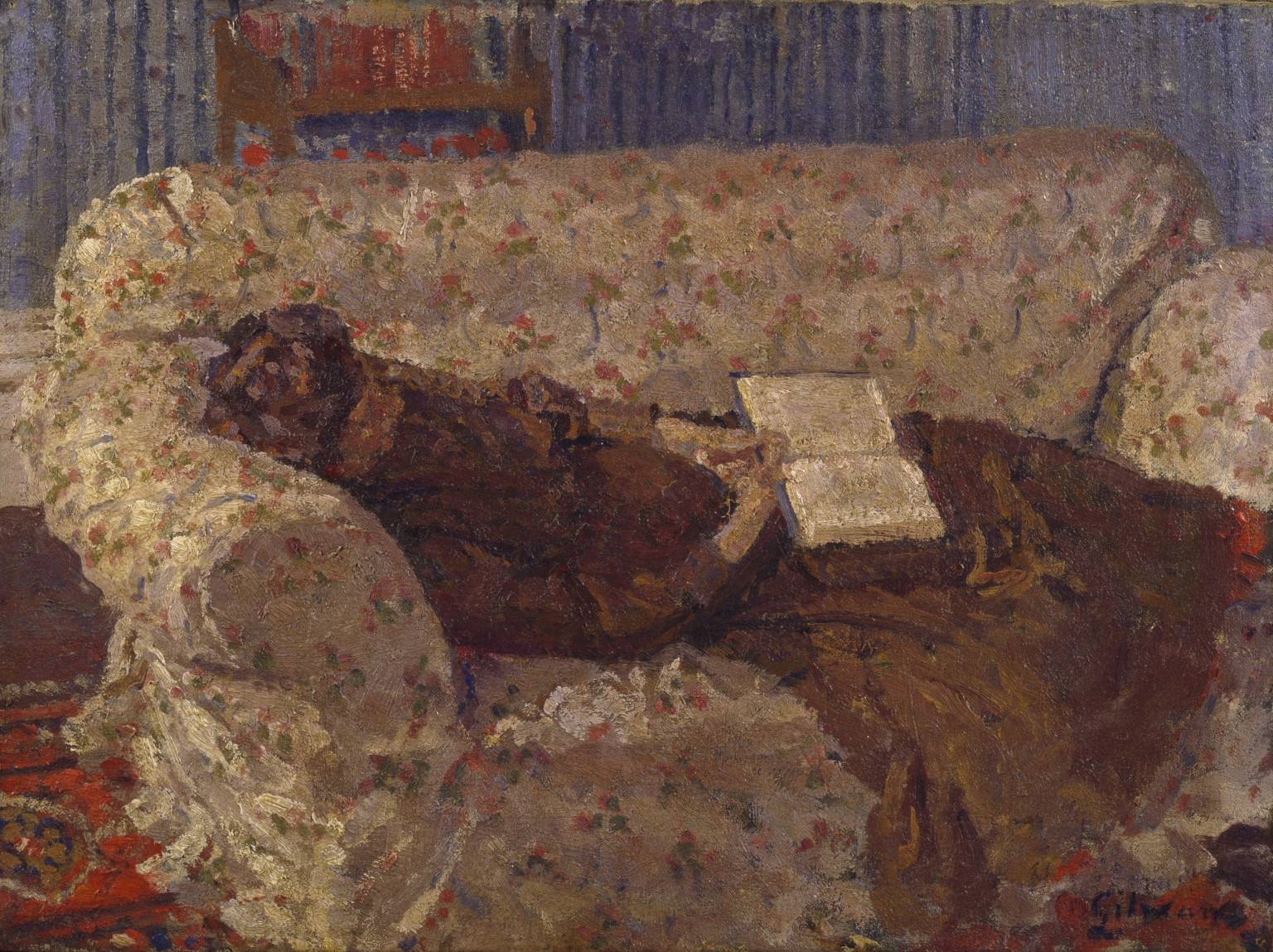 Ethel Sands, 'the Chintz Couch' C.1910-11 (The Camden Town Group with Chintz Covered Sofas (Image 24 of 30)