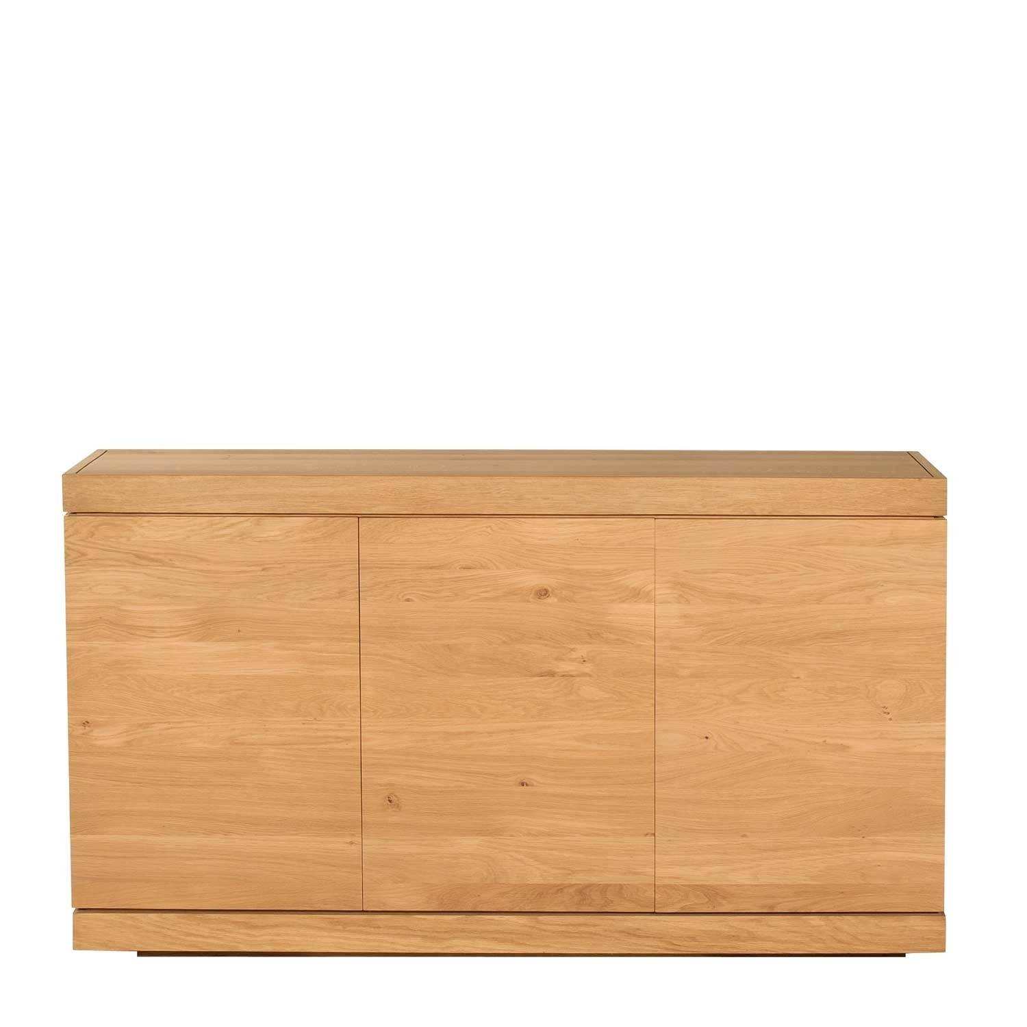 Ethnicraft Burger Oak Sideboard 150Cm - 3 Doors | Solid Wood Furniture in Light Oak Sideboards (Image 5 of 30)