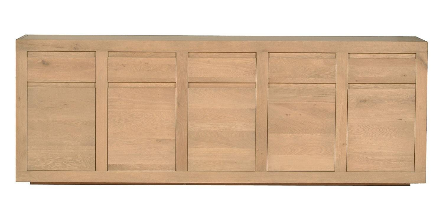 Ethnicraft Flat Oak Sideboard | Solid Wood Furniture regarding Oak Sideboards (Image 6 of 30)