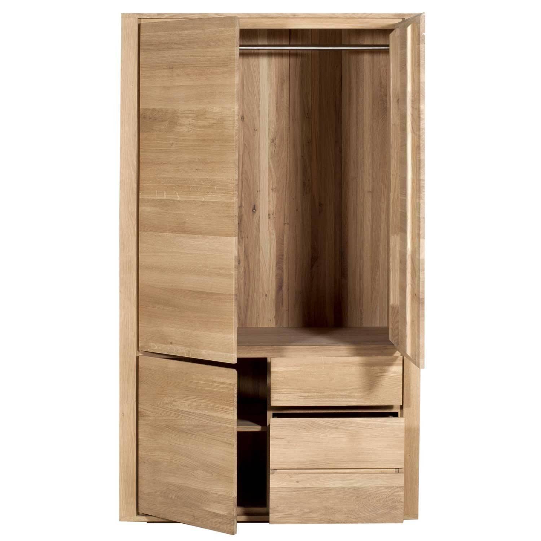 Ethnicraft Oak Shadow Dresser – 3 Doors 2 Drawers For Oak 3 Door Wardrobes (View 4 of 15)