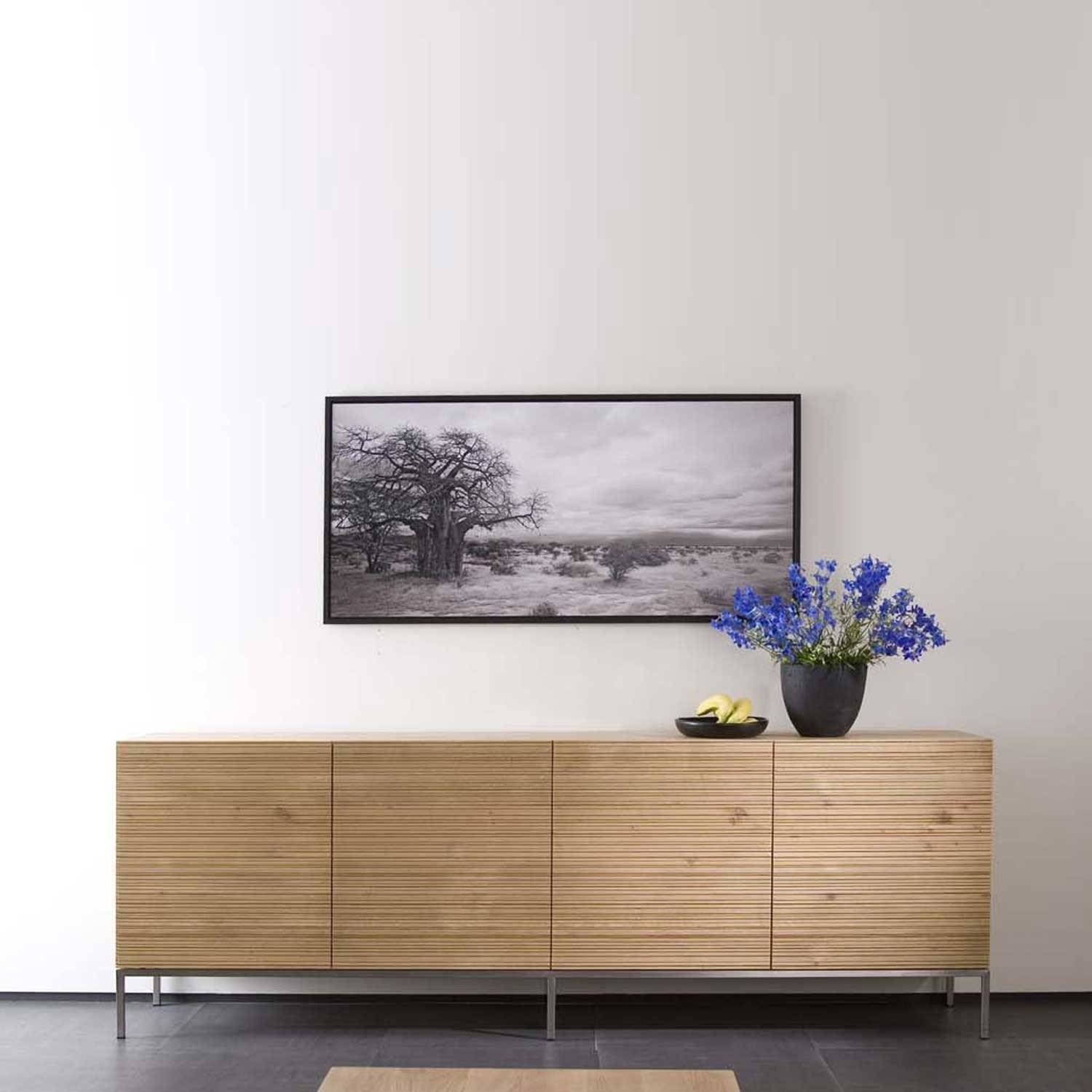 Ethnicraft Stonecut Oak Sideboards | Solid Wood Furniture pertaining to White and Wood Sideboards (Image 5 of 30)