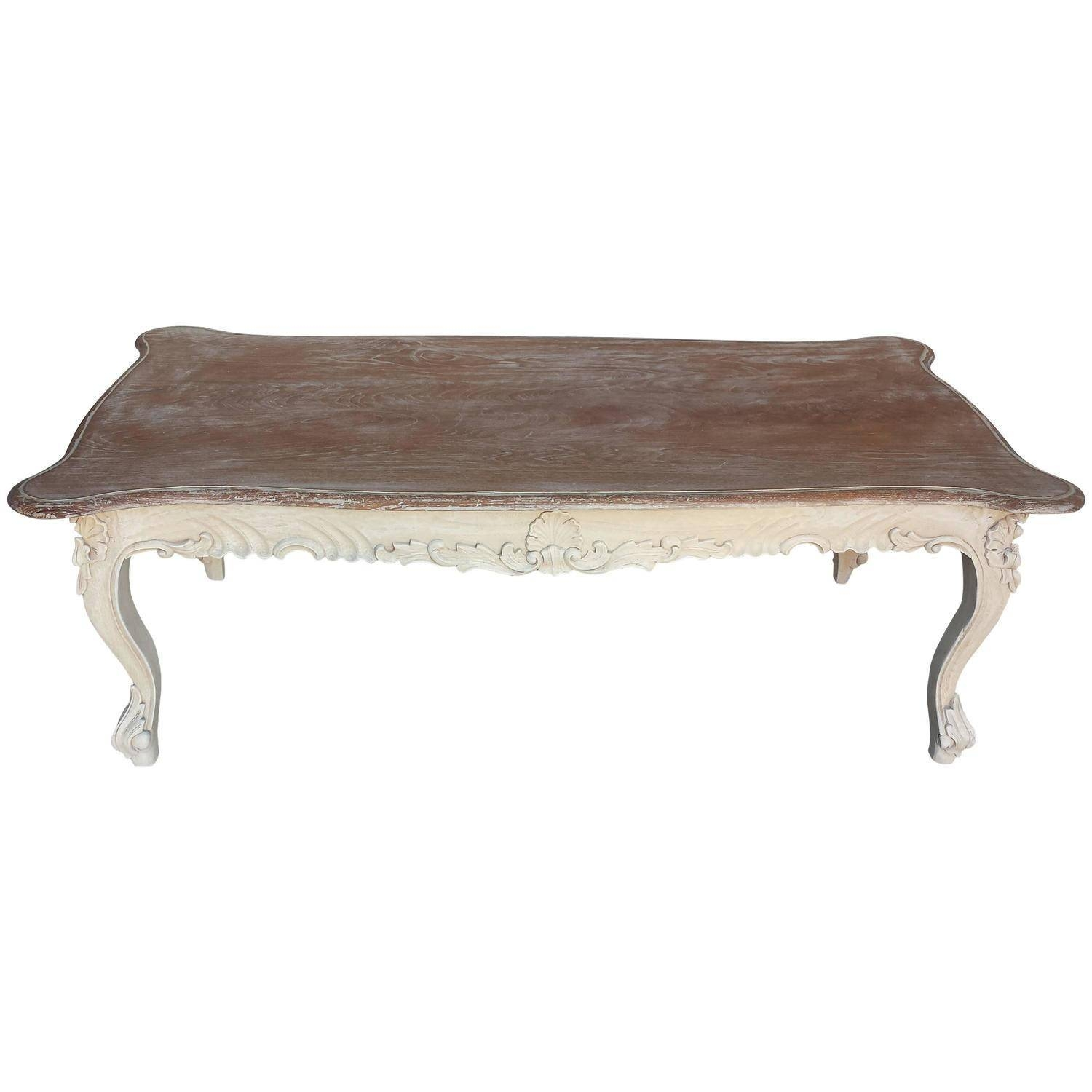 European French Country Style Coffee Table Living Room – Cottage regarding White Cottage Style Coffee Tables (Image 14 of 30)