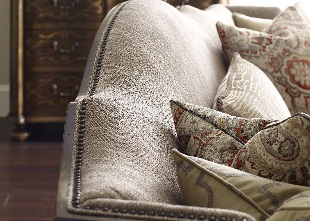 European-Inspired Traditional Fabric Sofa Canella Finish With in Traditional Fabric Sofas (Image 10 of 30)