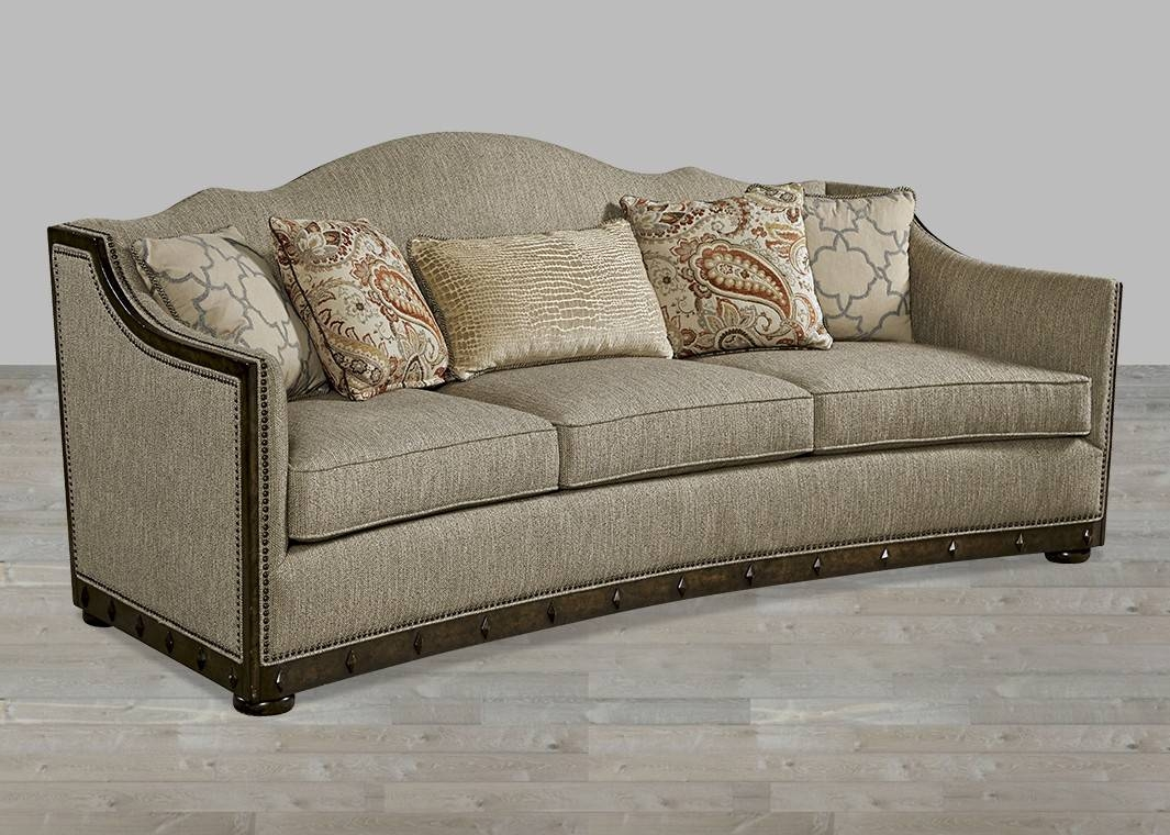 European-Inspired Traditional Fabric Sofa Canella Finish With regarding Traditional Fabric Sofas (Image 11 of 30)