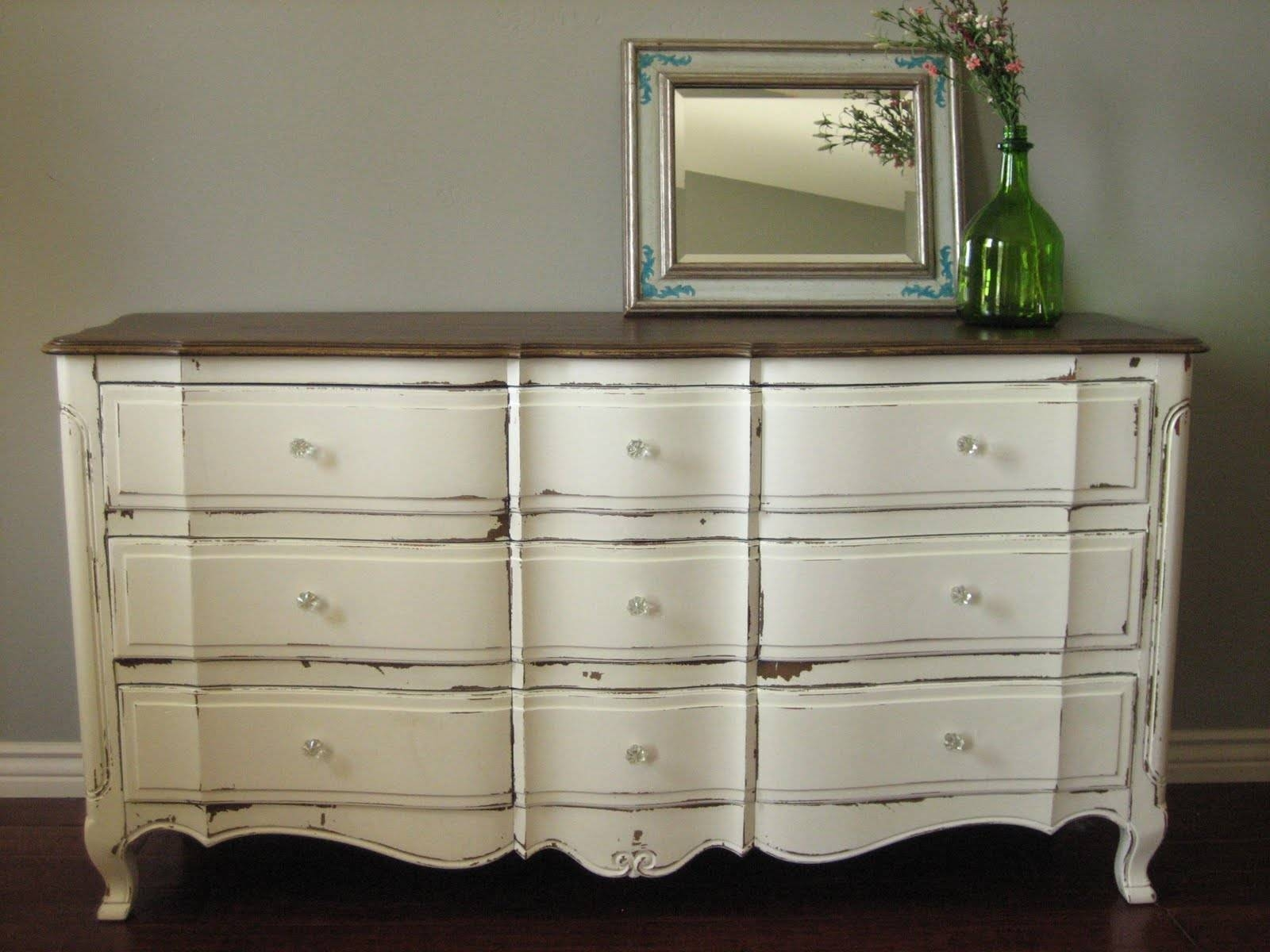 European Paint Finishes: April 2011 with regard to White Distressed Finish Sideboards (Image 16 of 30)