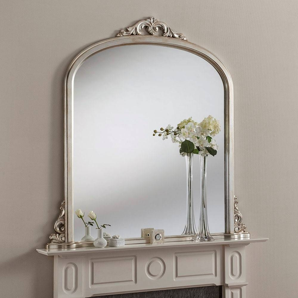 Eva Crested Overmantle Mirror From £399 - Luxury Overmantle with Overmantle Mirrors (Image 7 of 25)