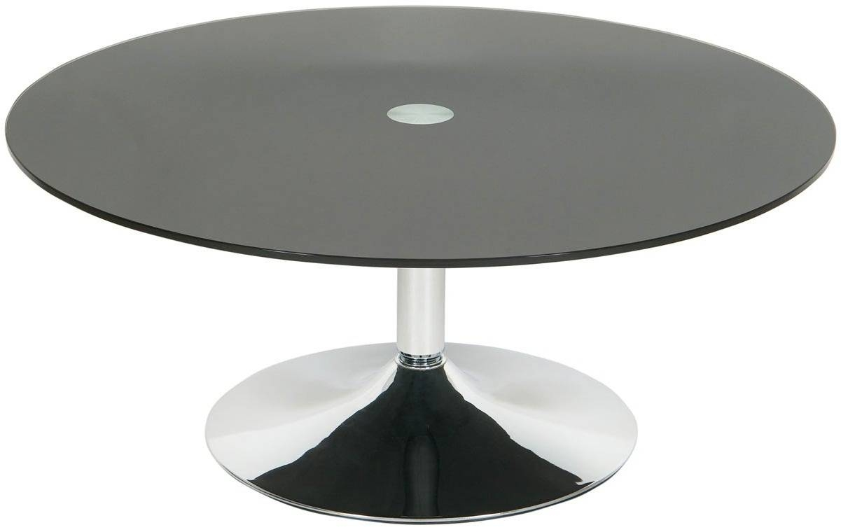 Excellent Round Black Glass Coffee Table – Round Black Glass And for Round Chrome Coffee Tables (Image 11 of 30)