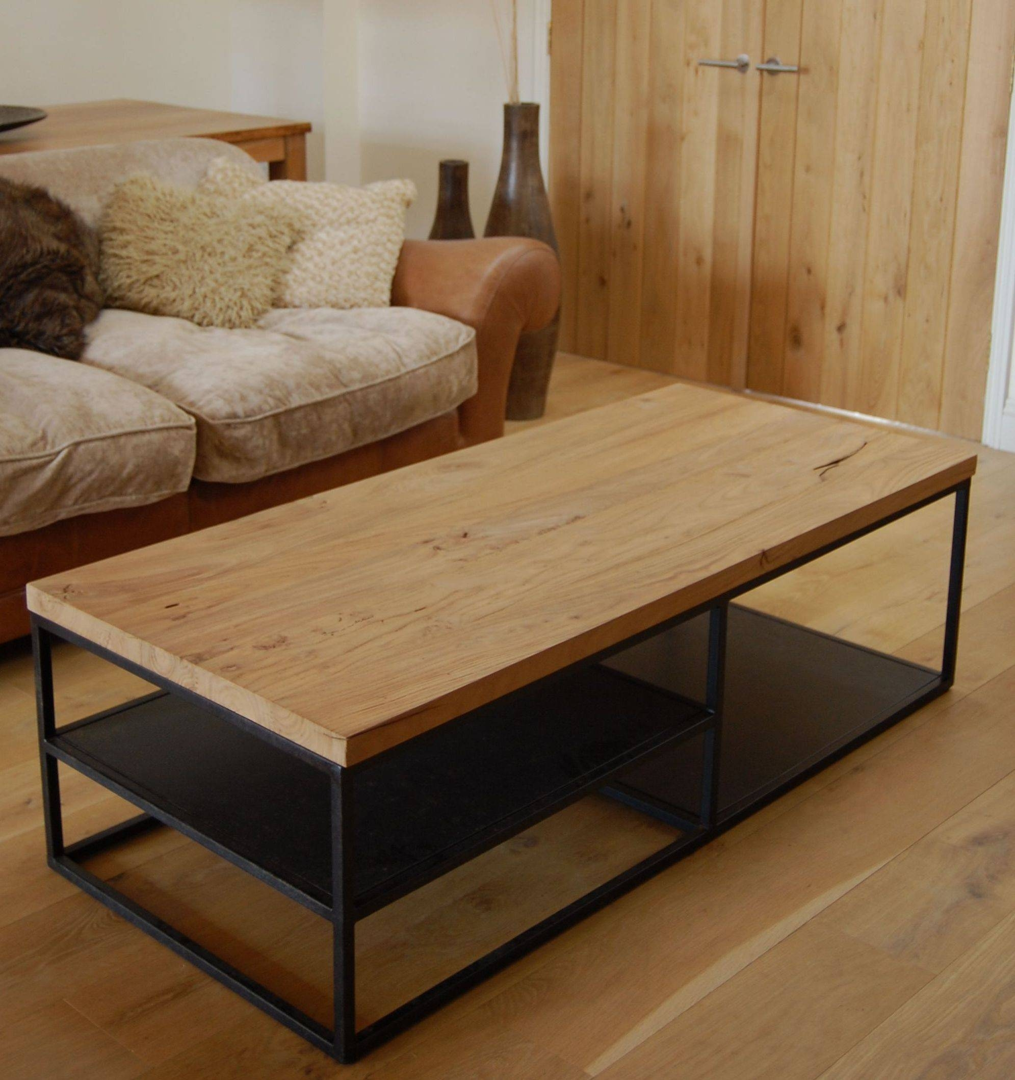 Exciting Reclaimed Wood Coffee Table With Chrome Legs Wood Table with regard to Chrome and Wood Coffee Tables (Image 10 of 30)