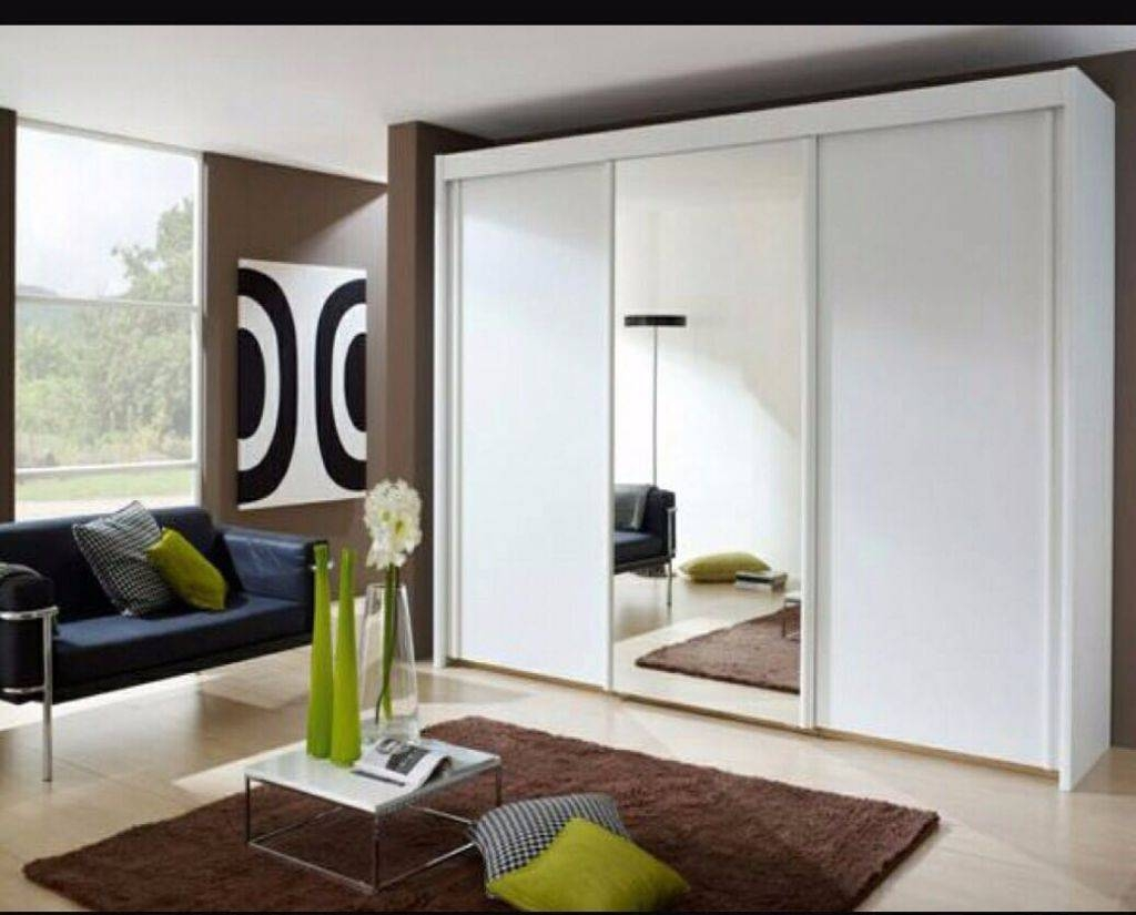 Exclusive Offer! Free Delivery! Brand New !monoco 3 Door Sliding throughout Black Sliding Wardrobes (Image 3 of 15)