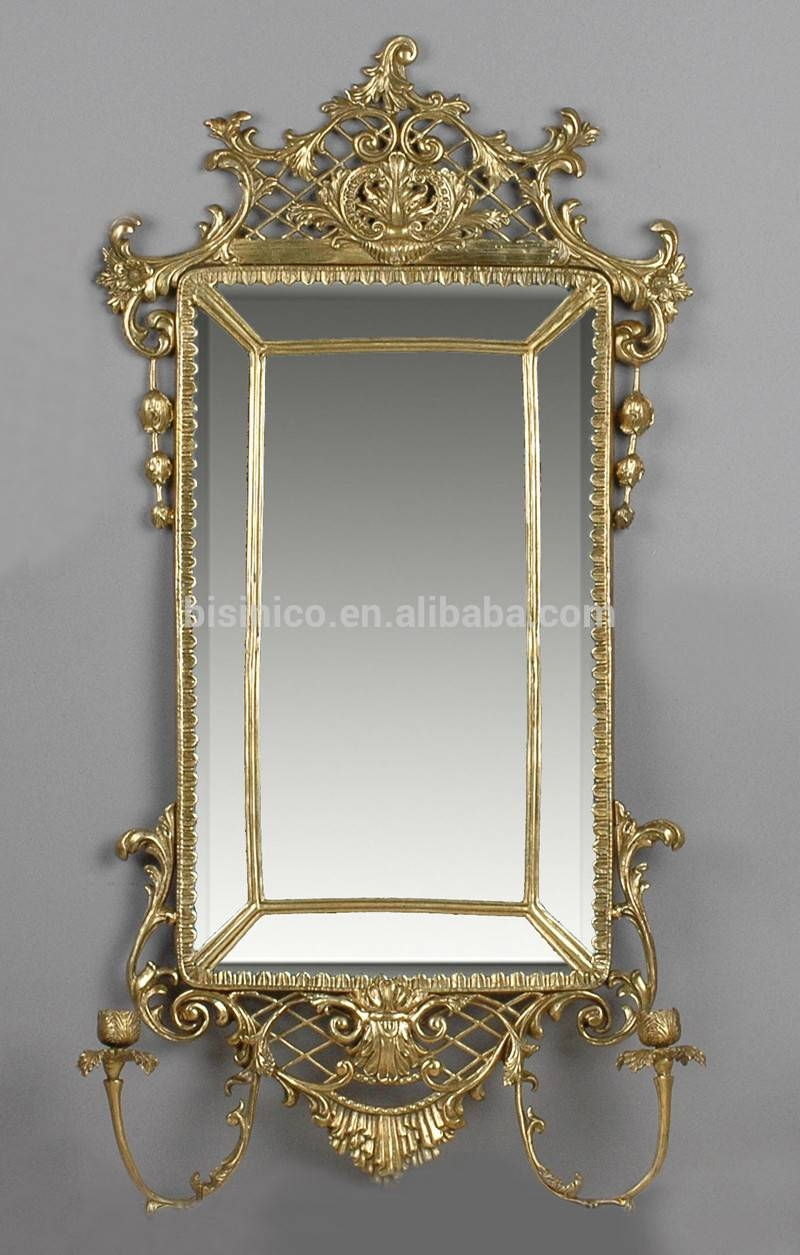Exquisite Antique Bronze Wall Mirror,unique Design Decorative regarding Bronze Wall Mirrors (Image 8 of 25)