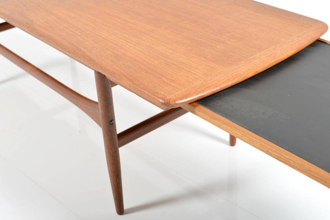 Extendable Teak And Formica Coffee Table, 1950S For Sale At Pamono pertaining to Extendable Coffee Tables (Image 11 of 30)