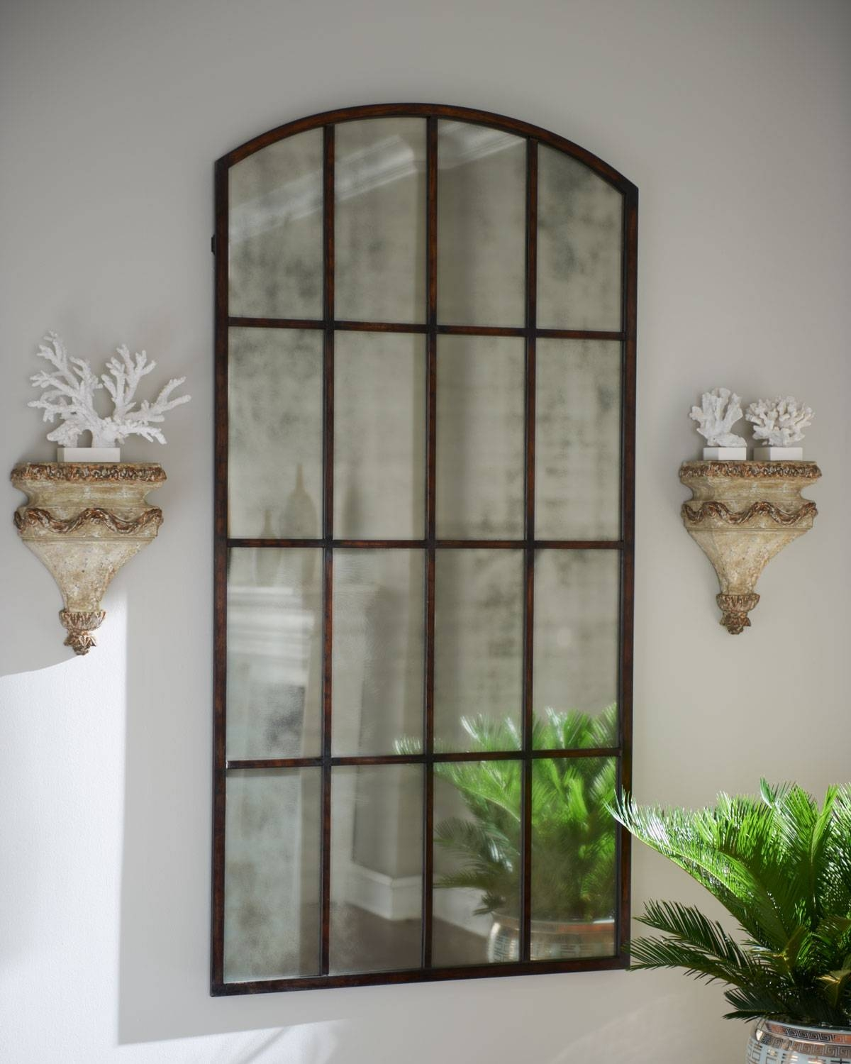 Exterior: Beautiful Arched Mirror Design Ideas With Rustic Arched with regard to Large Arched Mirrors (Image 7 of 25)