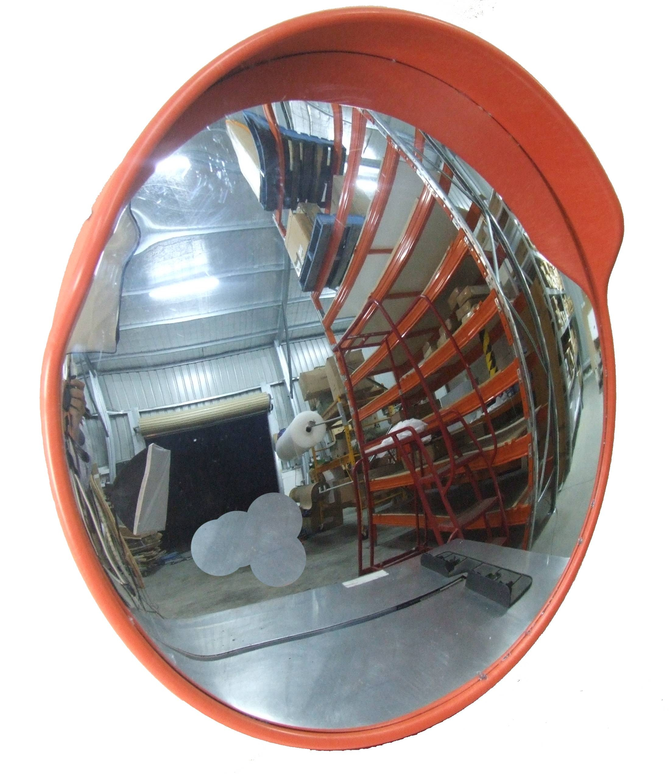 External Convex Mirror 600Mm with Black Convex Mirrors (Image 6 of 25)