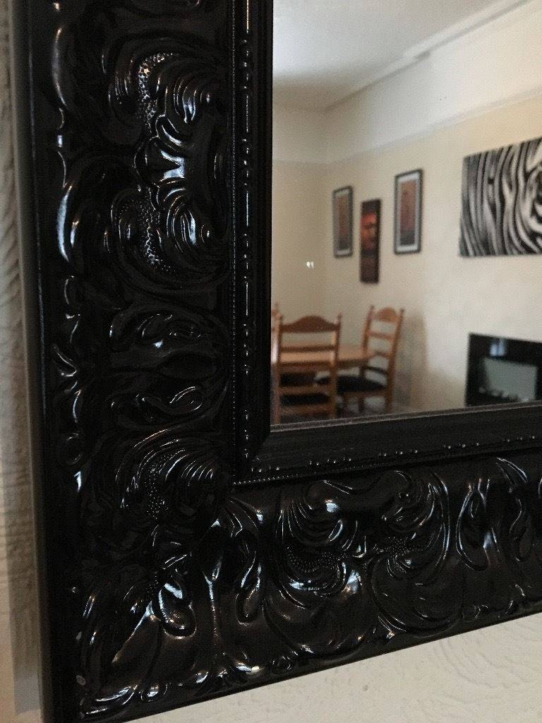 Extra Large Black Baroque Mirror | In Whitefield, Manchester | Gumtree Intended For Black Baroque Mirrors (View 15 of 25)