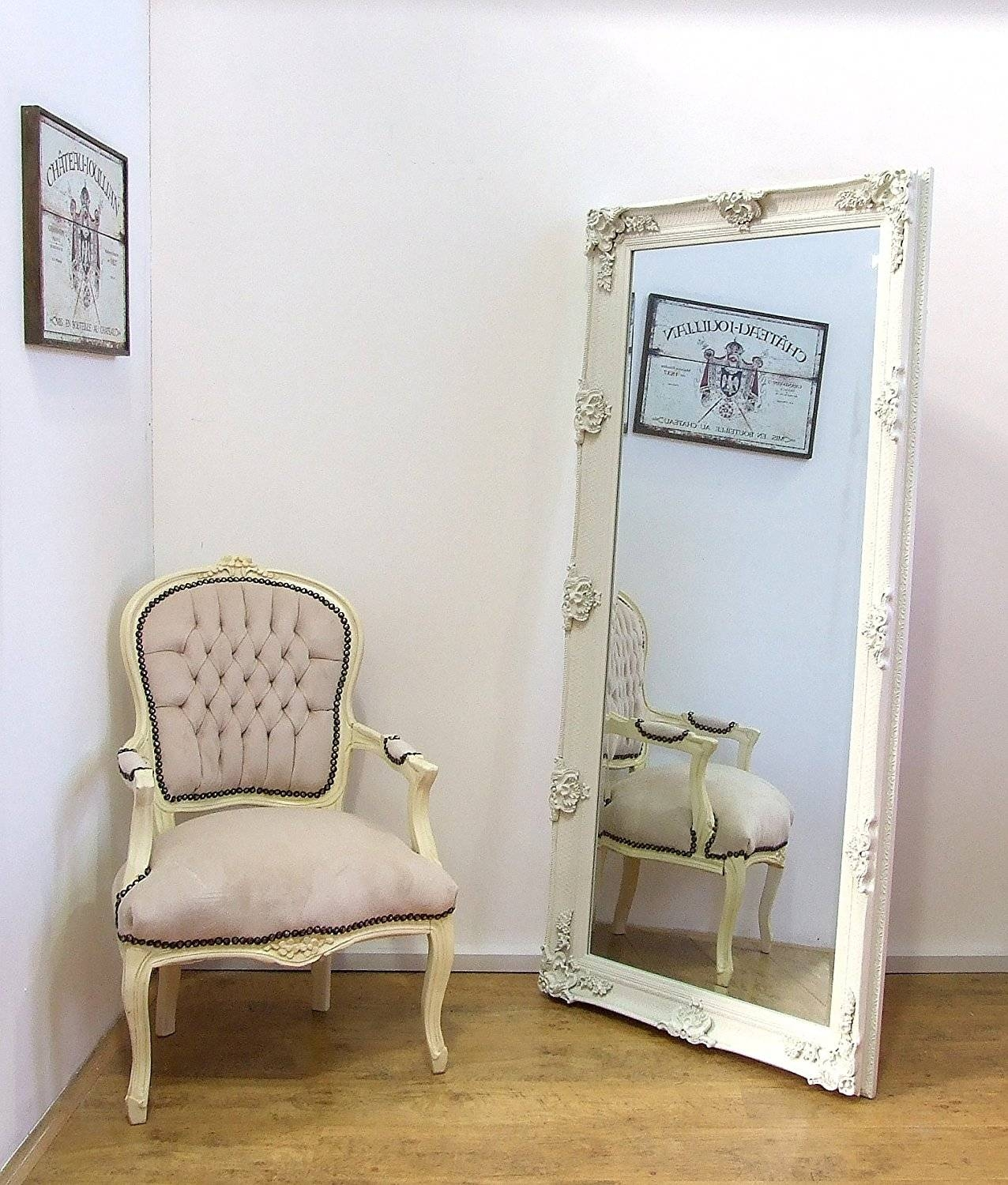 Extra Large Leaner Mirror – Harpsounds.co with regard to Antique Cream Mirrors (Image 14 of 25)