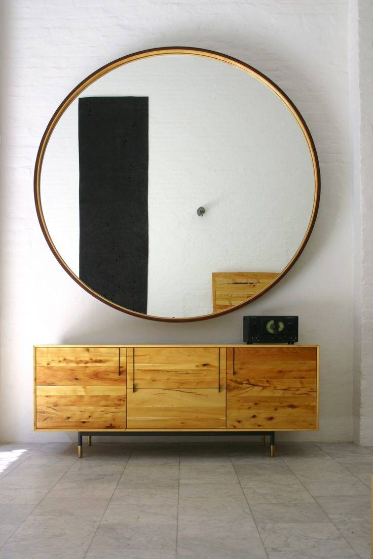 Extra Large Round Mirror 58 Awesome Exterior With Grey Hallway For with Large Circular Mirrors (Image 8 of 25)