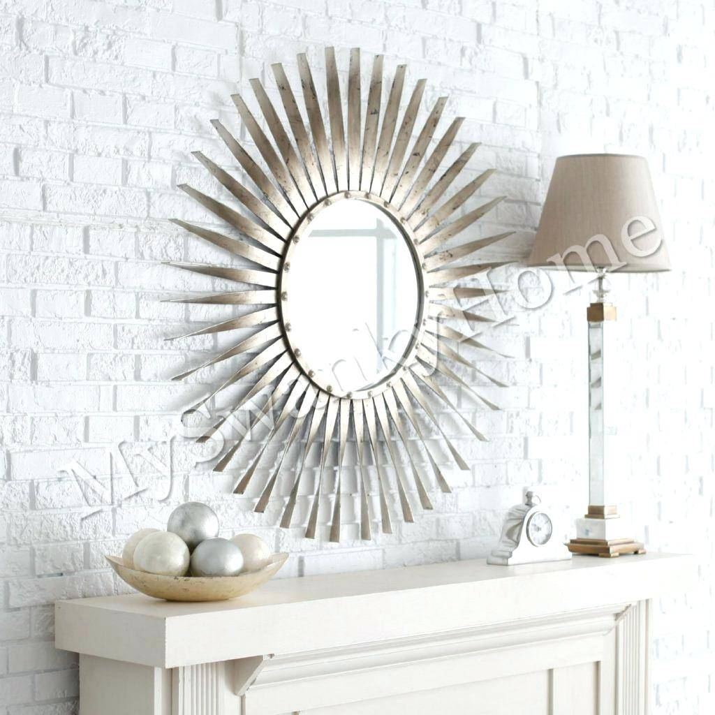 Extra Large Sun Mirror 145 Cmsilver Shaped Antique Silver – Shopwiz Throughout Large Sun Shaped Mirrors (View 8 of 25)