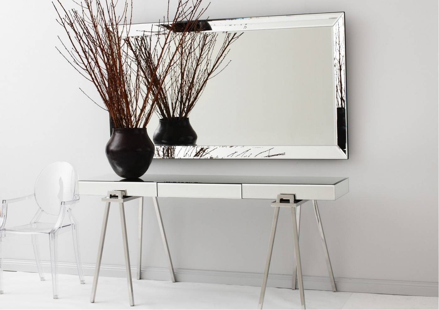 Extra Long Narrow Mirrored Console Table With Portable Stainless for Long Narrow Mirrors (Image 6 of 25)