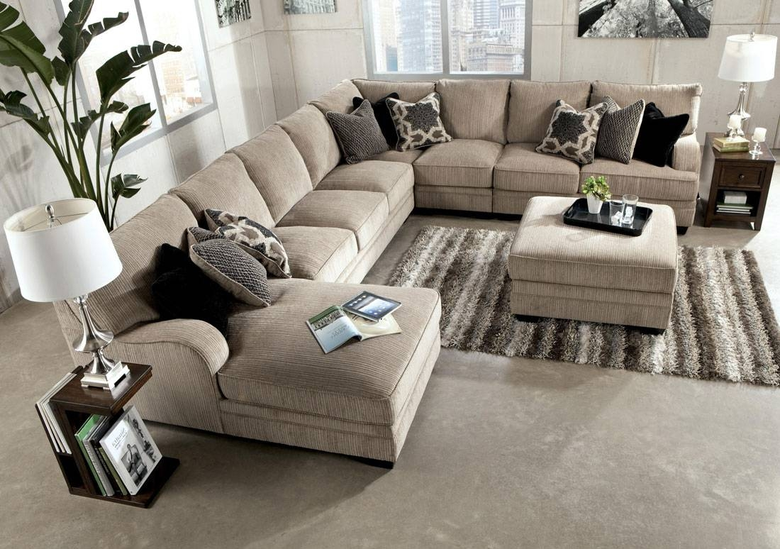 Extra Long Sectional Sofa - Leather Sectional Sofa inside Long Chaise Sofa (Image 7 of 25)