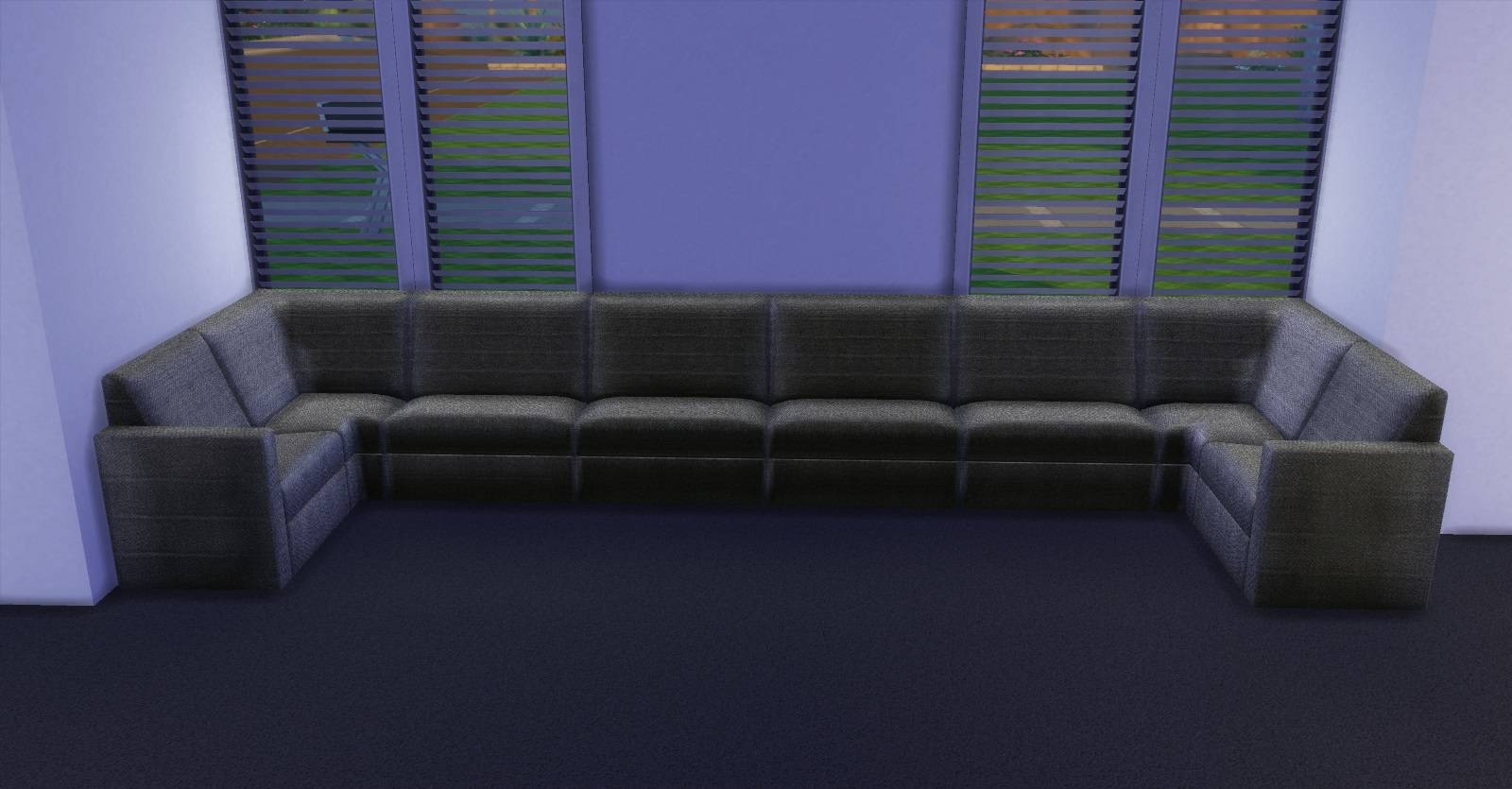 Extraordinary Sims 3 Sectional Sofa 18 For C Shaped Sofa Sectional within C Shaped Sofa (Image 12 of 30)