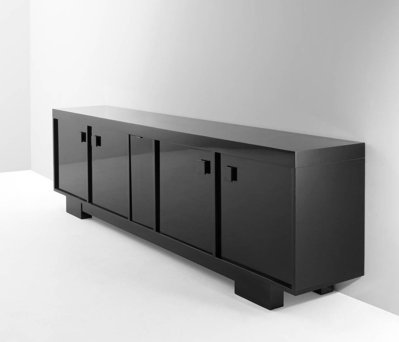 Extreme Long High Gloss Credenzaveranneman For Sale At 1Stdibs pertaining to Black High Gloss Sideboards (Image 10 of 30)