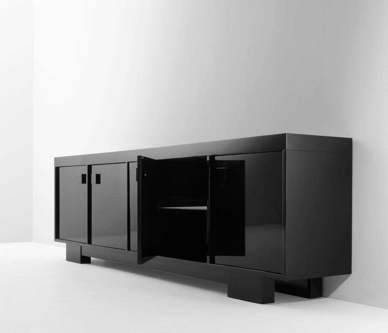 Extreme Long High Gloss Credenzaveranneman For Sale At 1Stdibs within High Gloss Black Sideboards (Image 14 of 30)