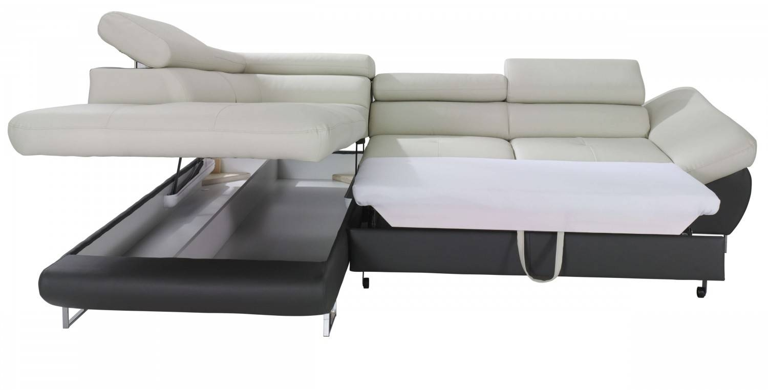 Fabio Sectional Sofa Sleeper With Storage | Creative Furniture for Leather Storage Sofas (Image 9 of 30)