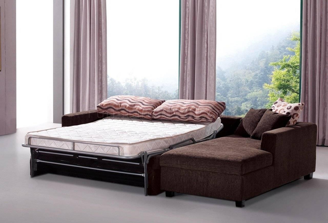 Fabric Modern Sectional Sofa W/sleeper & Storage Chaise in Sectional Sofas With Sleeper and Chaise (Image 13 of 30)