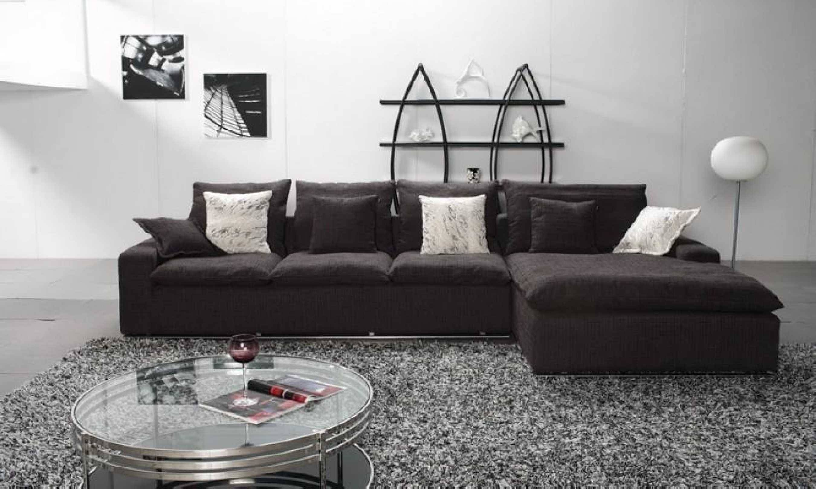 Fabric Modular Sofa Comfortable Home Design for L Shaped Fabric Sofas (Image 9 of 30)