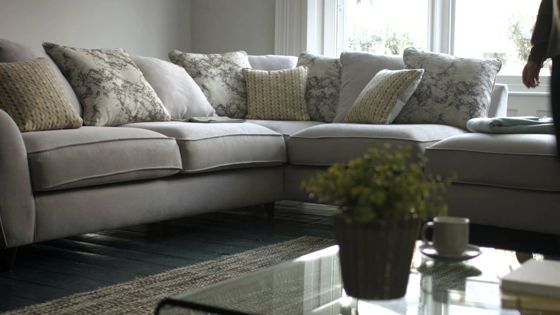 Fabric Modular Sofas & Corner Sofas - Carrara | Furniture Village inside Corner Sofa Chairs (Image 15 of 30)