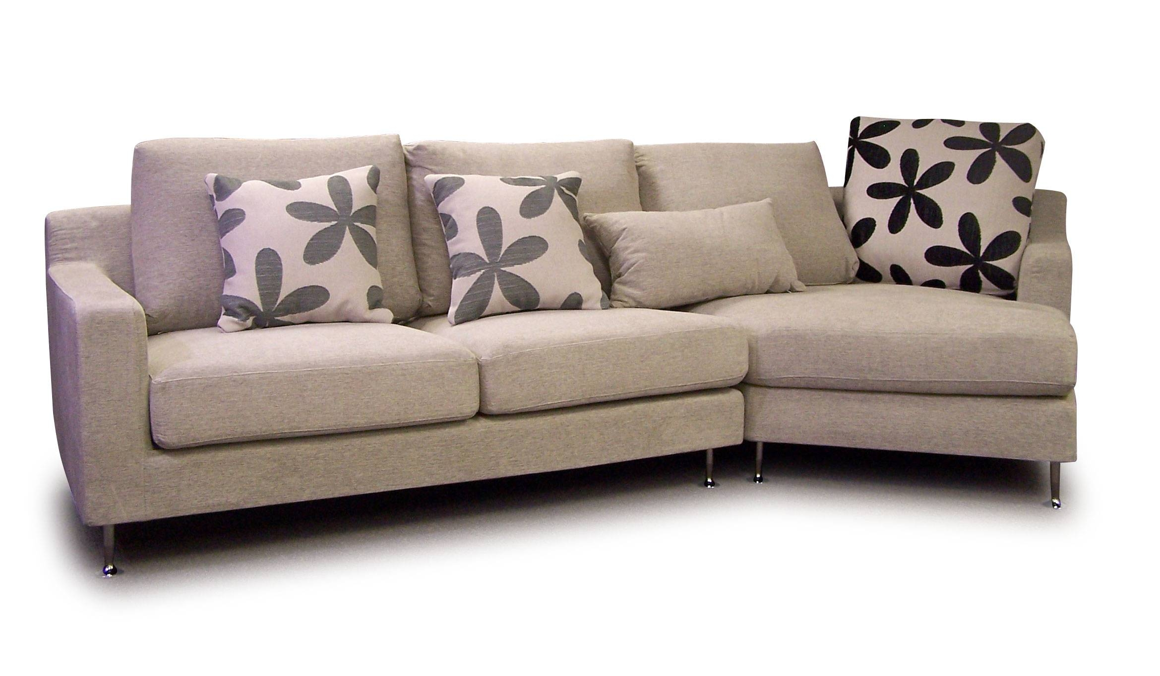 Fabric Sofa Designs intended for Leather and Cloth Sofa (Image 6 of 25)